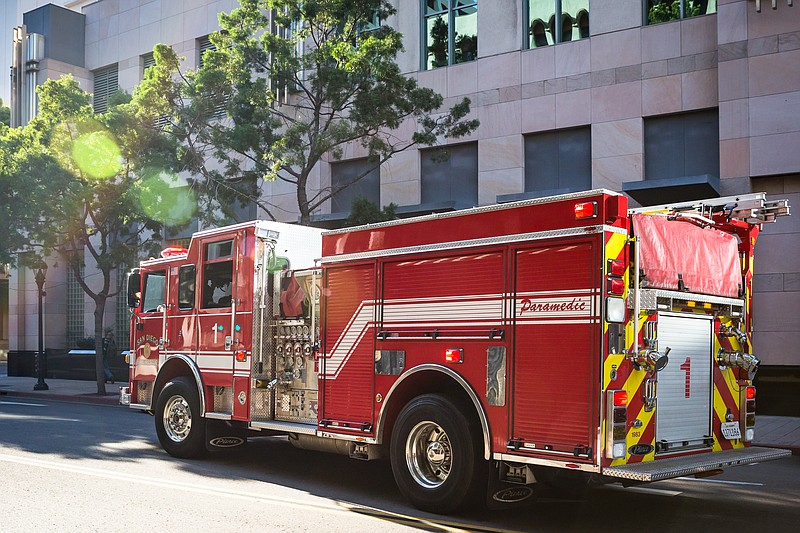 A fire truck in San Diego is shown in this undated photo.