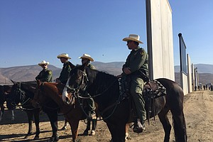 Homeland Security Marks Completion Of Border Wall Prototy...