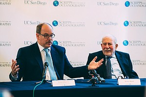 Monaco's Prince Albert Meets Famed Scripps Oceanographer For A Conversation O...