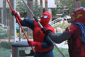 Superhero Window Cleaners Surprise Patients At Rady Child...