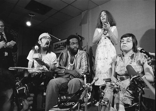 Disability rights activists in the Bay Area in the 1970s,...