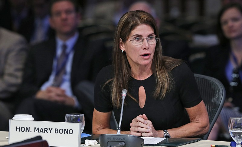 Congresswoman Mary Bono, R-Ca., speaks during a meeting of the Joint Committe...