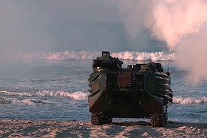 Marines' Beach Landing Exercise Keeps Amphibious Assaults...
