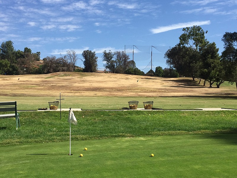 Some of the fairways at the StoneRidge Golf Course in Poway are have turned b...