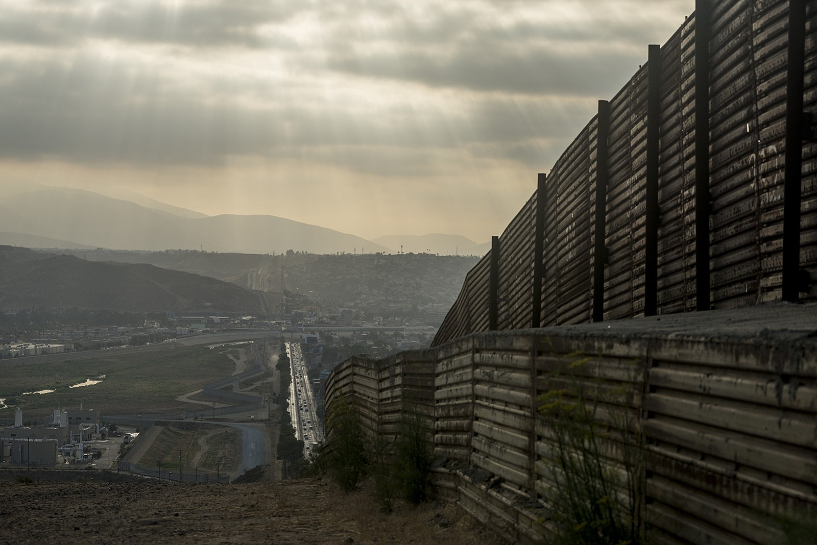 The majority of the primary fencing along the U.S.-Mexico border in San Diego...