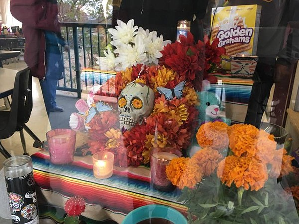 Students at Eagle Peak Middle School built an altar in Kai's memory for Day o...