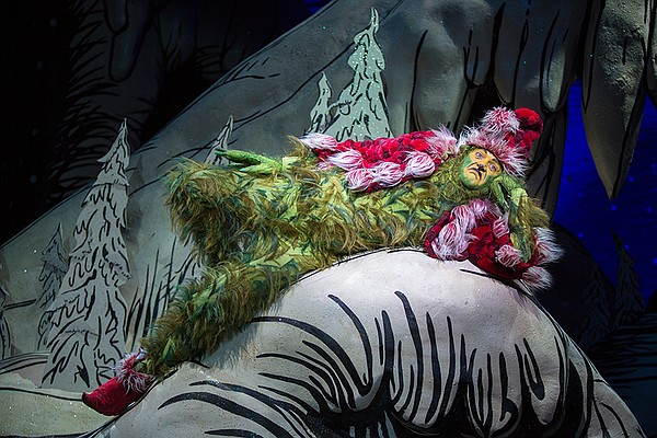 Edward Watts appears as The Grinch in the 2017 production...