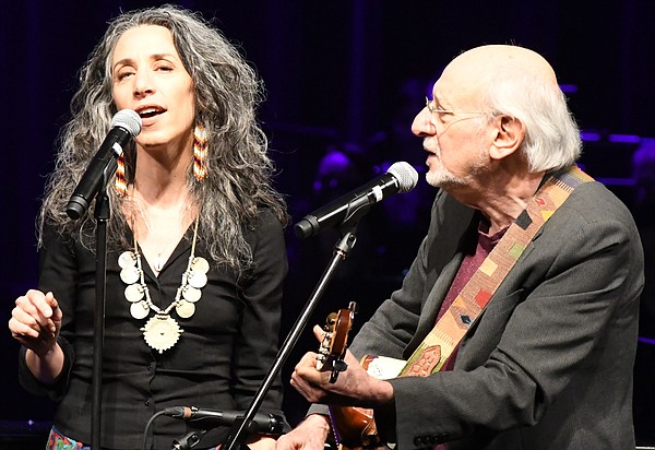 Special guests Bethany Yarrow and father Peter Yarrow.