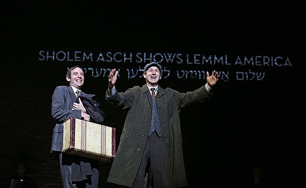 Max Gordon Moore as Sholem Asch and Richard Topol as Lemm...