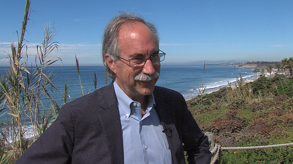 Del Mar City Councilman Dave Druker on the bluffs overloo...
