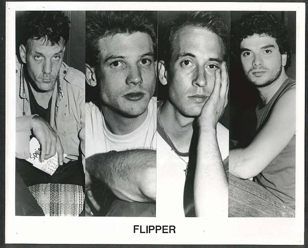 "Old promotional shot of Flipper. L-R: Falconi, Bruce ""Loo..."