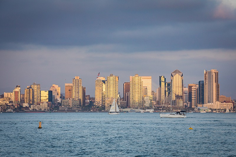 The San Diego skyline pictured in this undated photo.
