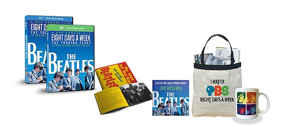Give $25/month or $300 now and get the Beatles: Eight Day...