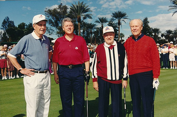 President George Bush, President Bill Clinton, Bob Hope, ...