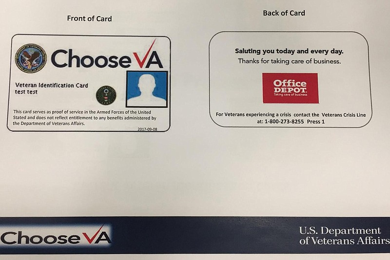 An early prototype of the VA's new veterans ID card released by the veterans ...
