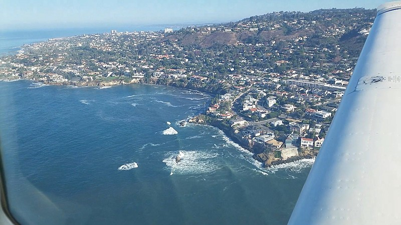 An aerial view of the King Tides near Bird Rock and La Jolla, De. 4, 2017.