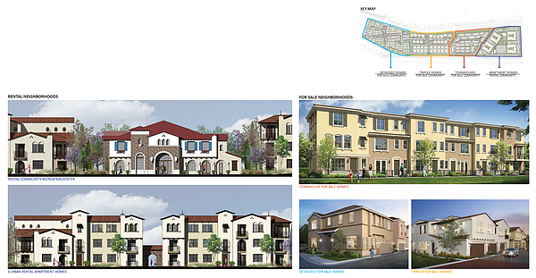 Renderings illustrate the homes of the Pacific Village pr...