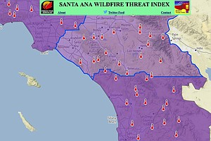 'Extreme' Fire Warning Issued For Thursday In San Diego C...