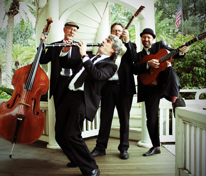 The San Diego Gypsy Jazz group, the Zzymzzy Quartet is pictured in this undat...