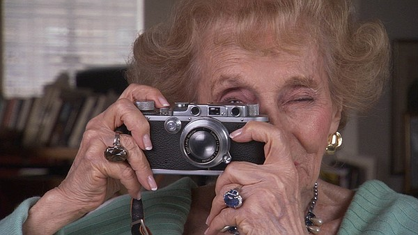 Ruth Gruber and her leica camera in