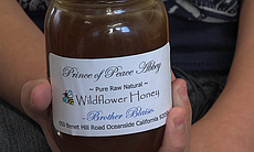 A jar of Brother Blaise's wildflower honey at P...