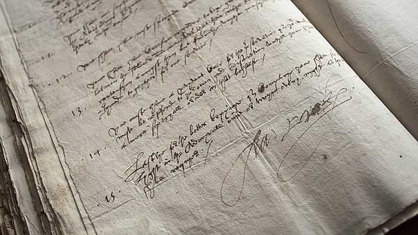 The discovery of English pirate Francis Drake's written plan to attack Puerto...