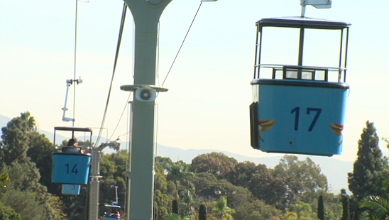 Gondola cars on the