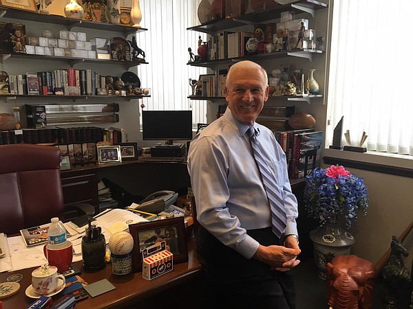 San Diego County Supervisor Ron Roberts in his office, No...