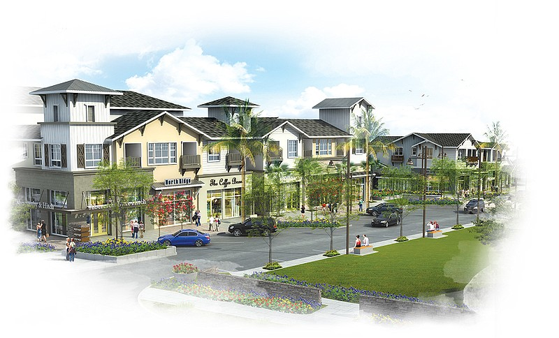 An artist's rendering of the future Village of Escaya in Otay Ranch.