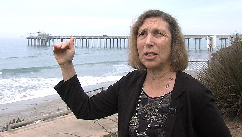Scripps Institution of Oceanography's Lisa Levin stands near the Scripps Pier...