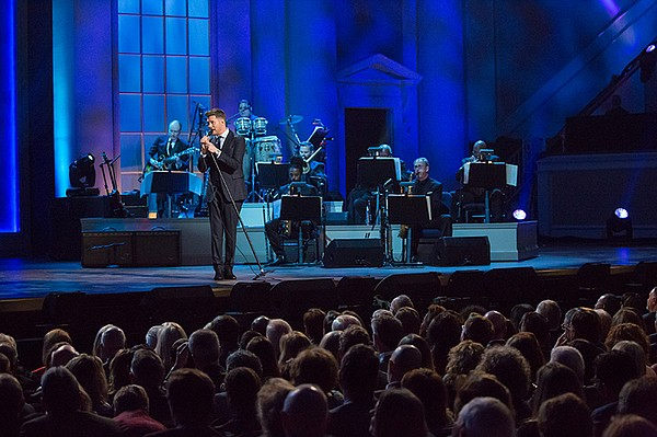 Michael Bublé in performance, Nov. 15, 2017 at the Daught...