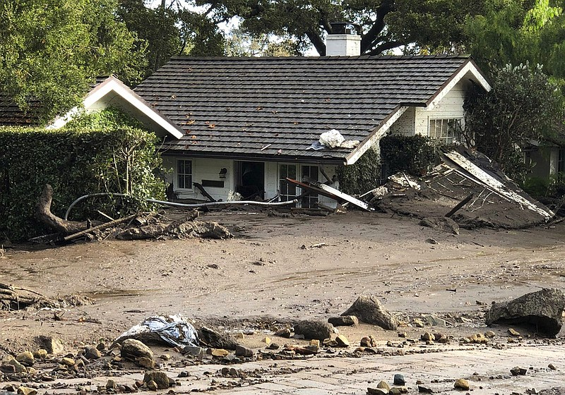 This photo provided by the Santa Barbara County Fire Department shows a home ...