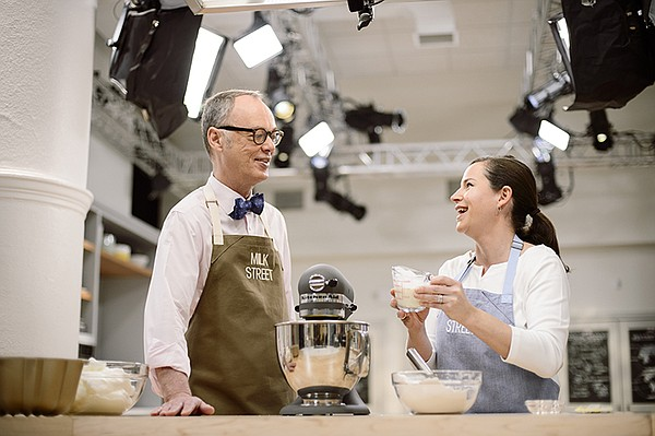 Host Chris Kimball with Erika Bruce making a foolproof, s...