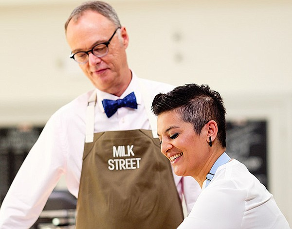 Chris Kimball with Rayna Jhaveri on the MILK STREET TELEV...