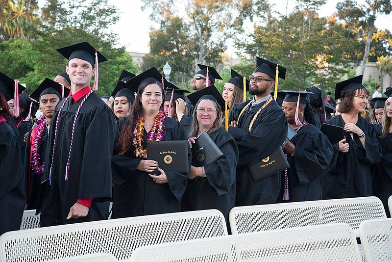 Students graduate from San Diego City College in this undated photo.