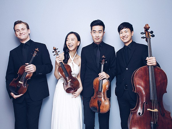 A promotional photo of The Rolston String Quartet.