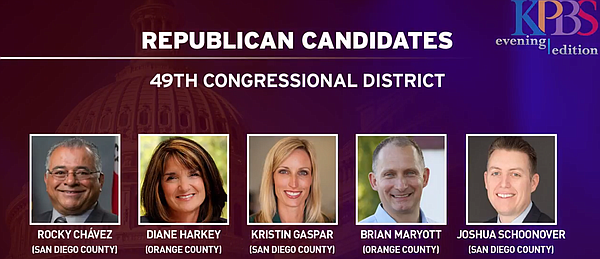 Republican candidates for Darrell Issa's 49th Congression...