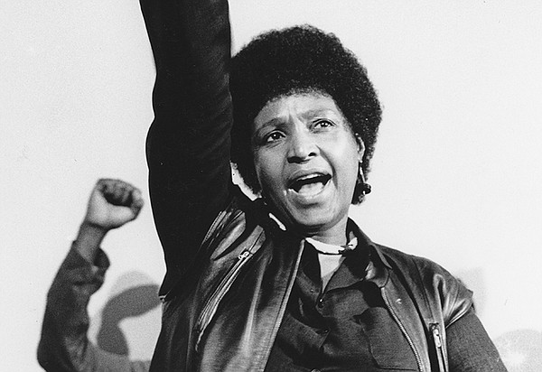 Winnie Mandela at the commemoration service for ANC membe...