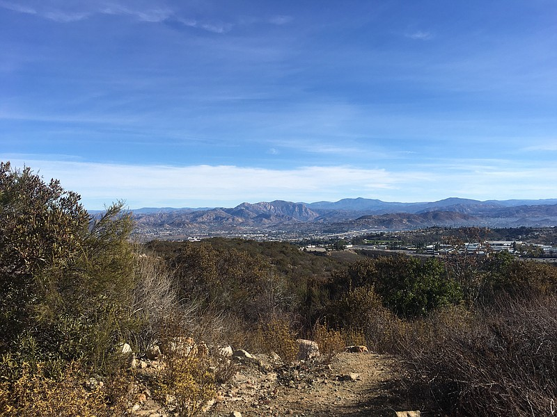 Looking towards Santee from Cowles Mountain, Jan. 13, 2018.