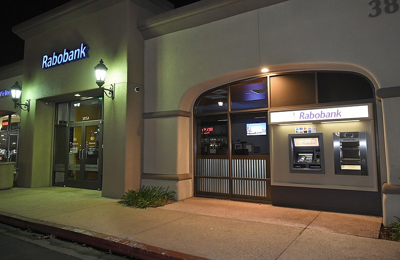 A Rabobank bank location is seen in Thousand Oaks, Calif., Tuesday, Feb. 6, 2...