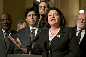 Sen. Toni Atkins Becomes First Woman, LGBTQ Member To Lea...