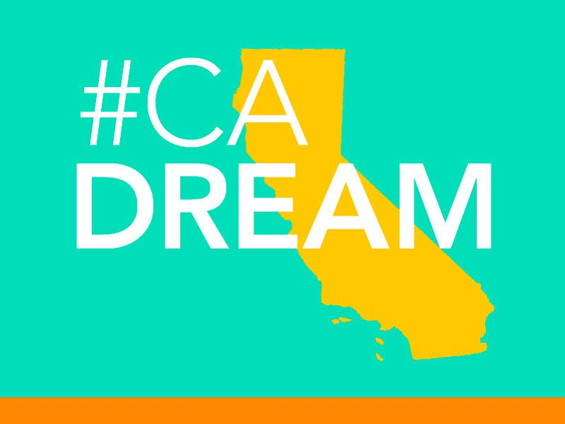 A graphic image shows the logo for the California Dream project in this undat...