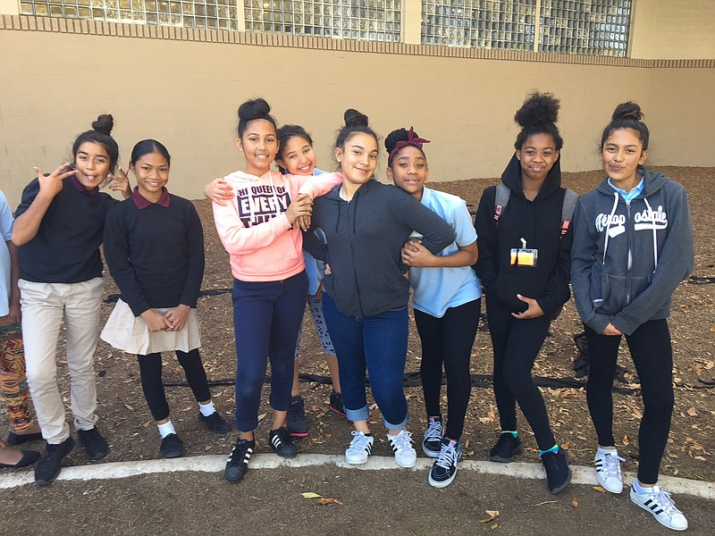 Middle school girls at the Boys and Girls Club of Greater San Diego Encanto B...