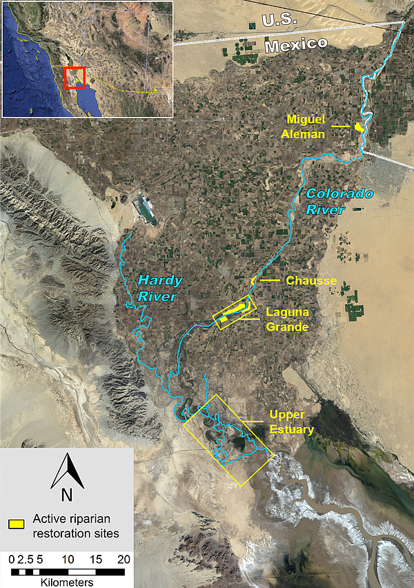 Above: Water designated for the environment under a U.S.-...