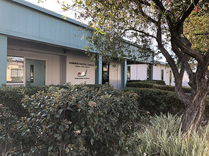 The National City School District central office is shown, Feb. 15, 2018.