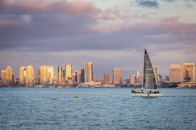 The San Diego Skyline Is Pictured In This Undated Photo