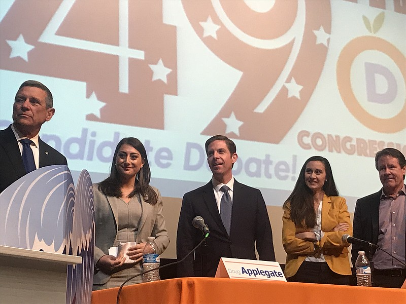 Democratic candidates for the 49th congressional district;  Doug Applegate, S...