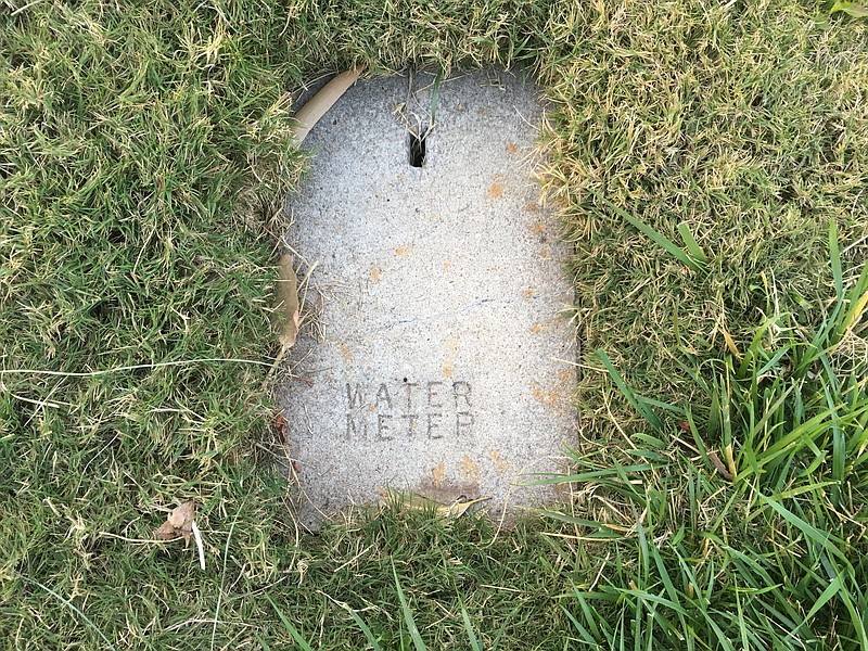 A water meter in San Carlos is shown in this photo, Feb. 25, 2018.