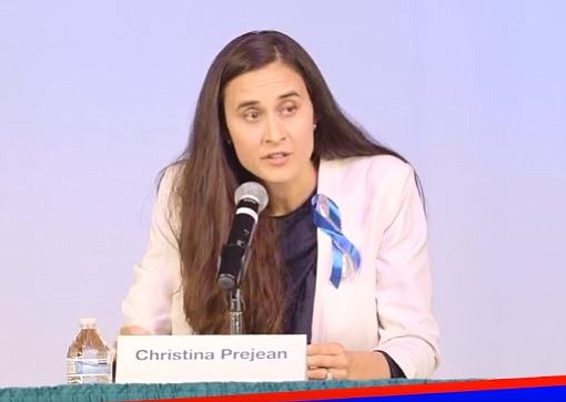 Christina PreJean, said she will drop out of the race for the 49th Congressio...