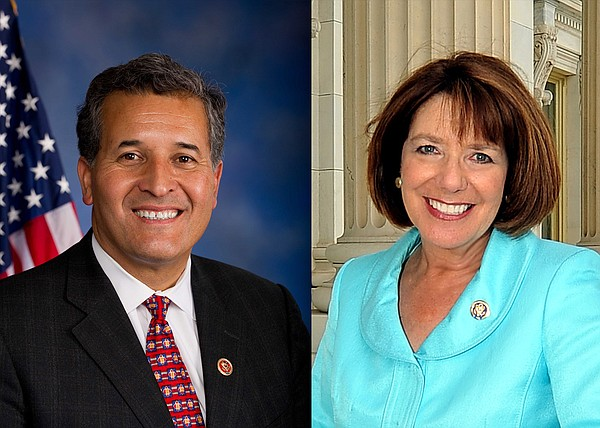 From left, Rep. Juan Vargas, D-San Diego, and Rep. Susan ...